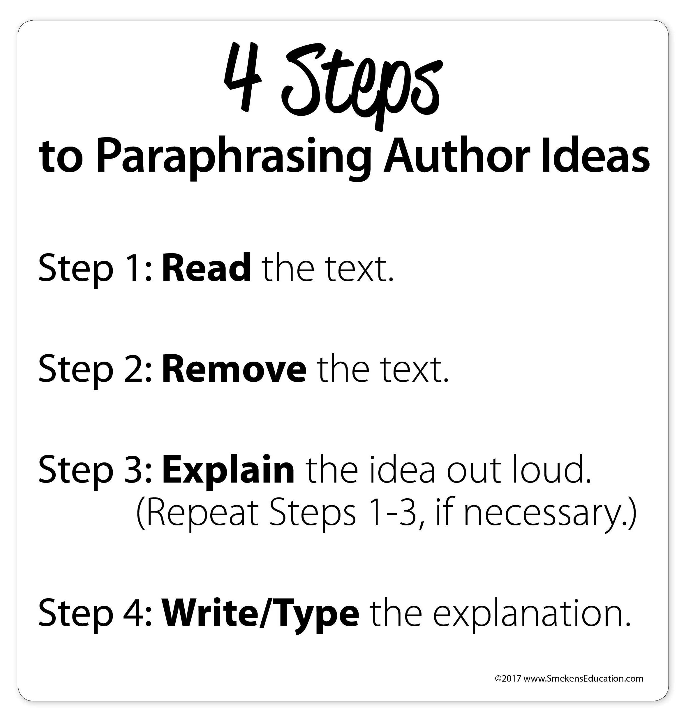 Paraphrase in 4 Steps
