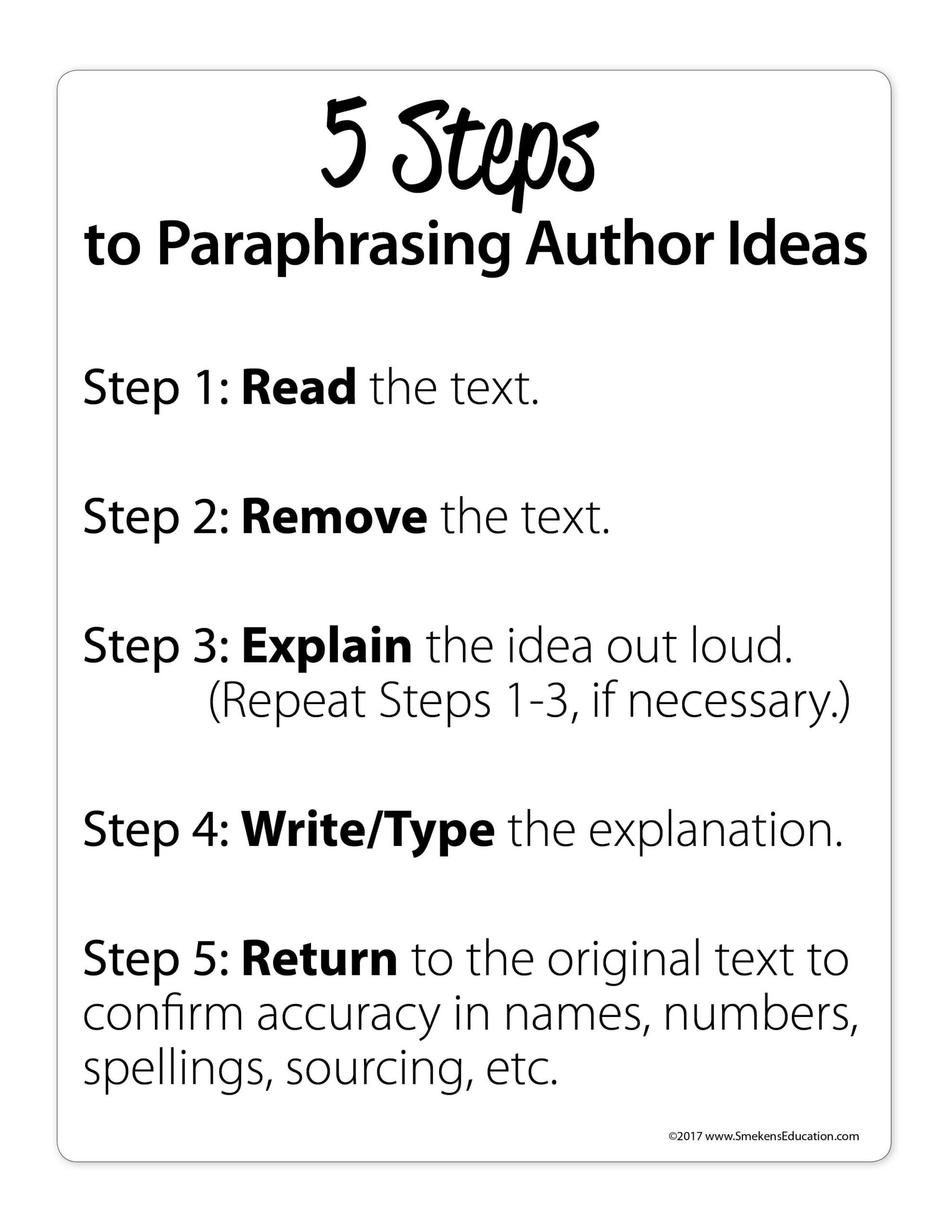 Paraphrase in 5 Steps