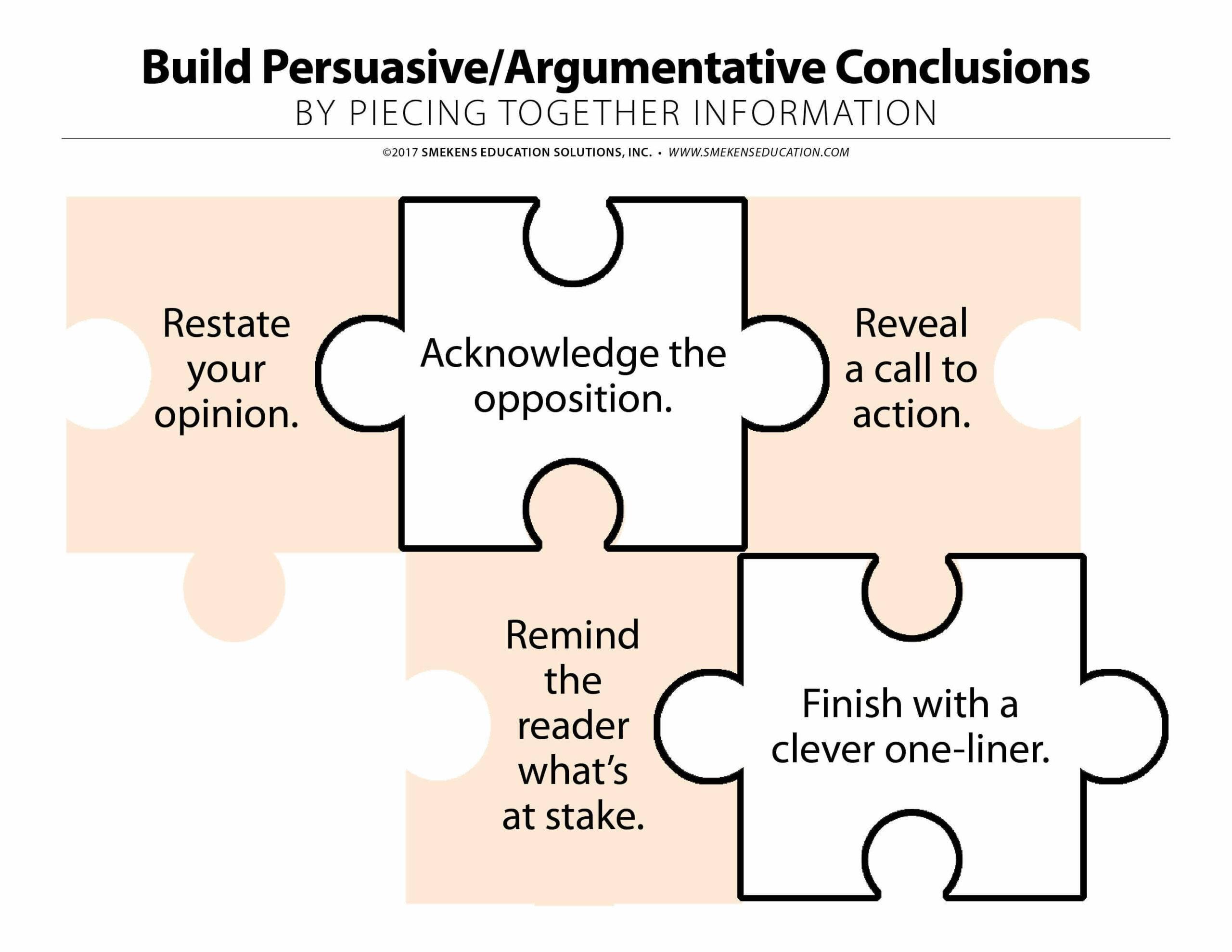 Persuasive Conclusion Puzzle Pieces