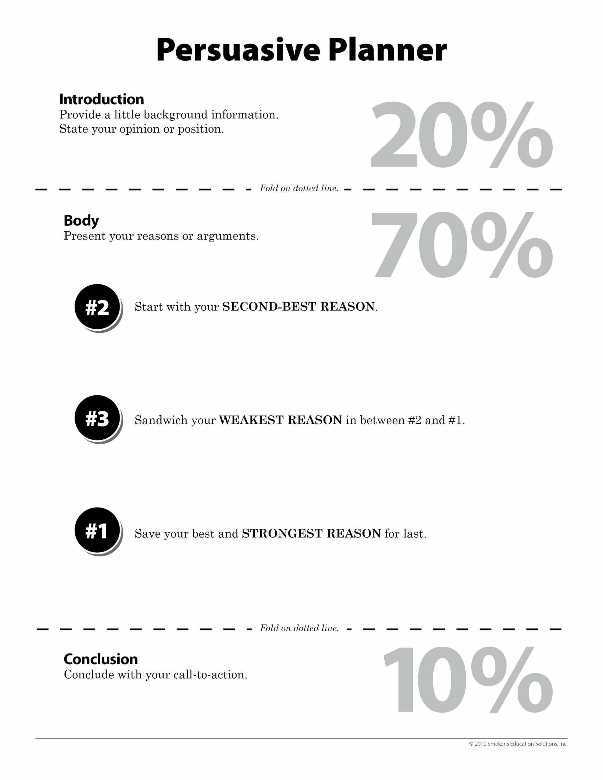 Persuasive Planner 2-3-1 - Downloadable Resource