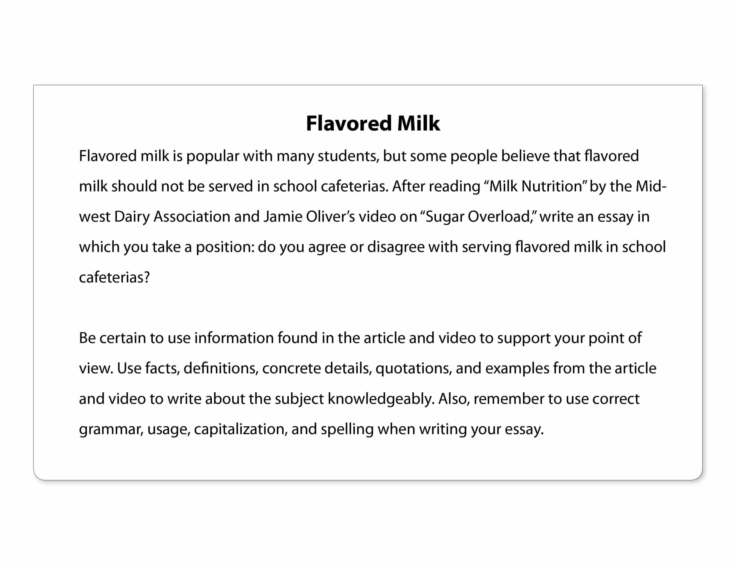 Prompt: Flavored Milk Original - Downloadable Resource