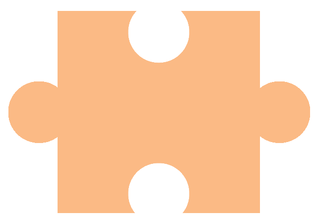 Dark Orange Puzzle Piece - for Piecing Together Informative Introductions