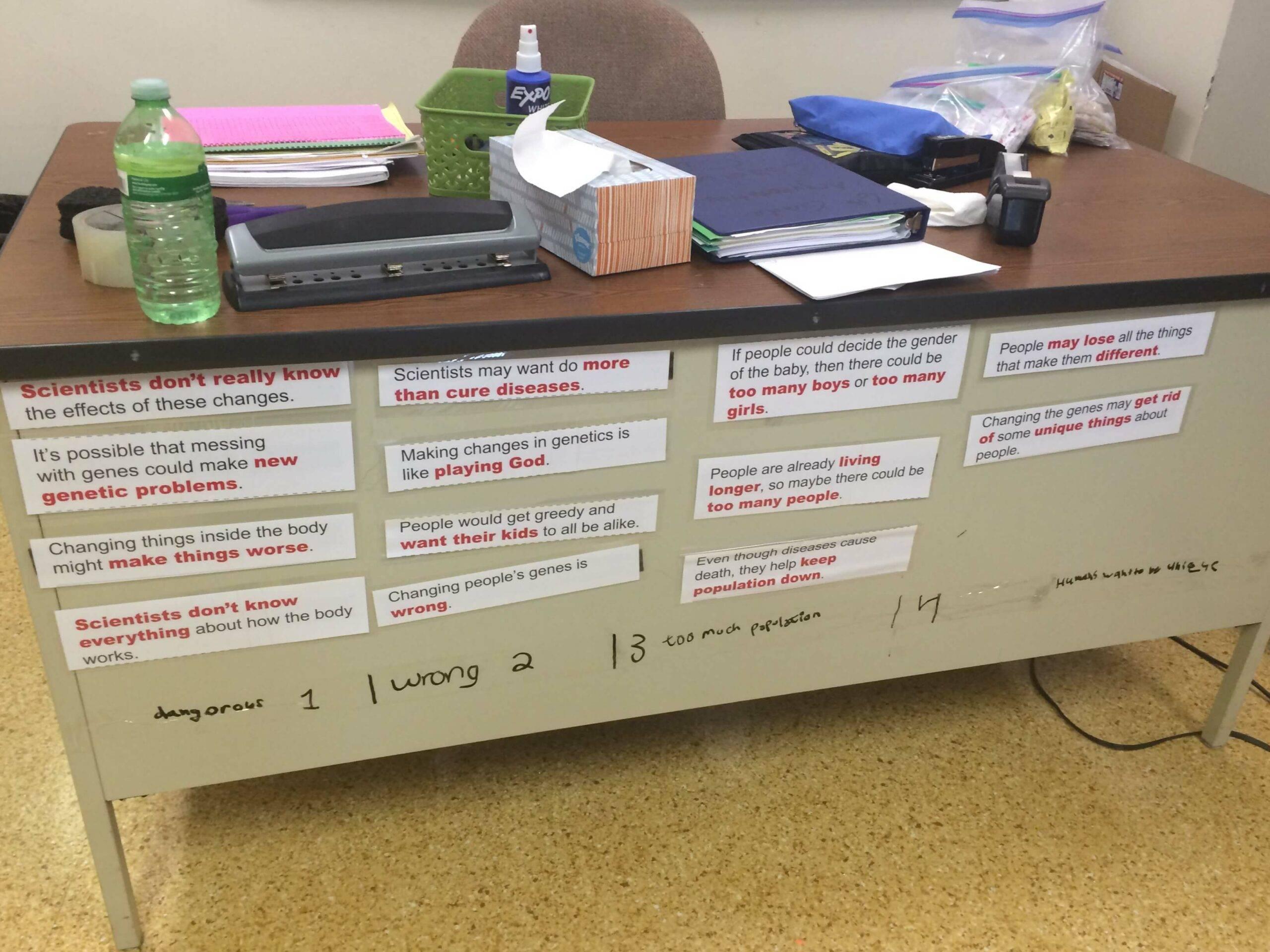 Stacey Rubin - Student Samples for Reasons/Evidence Sort 3