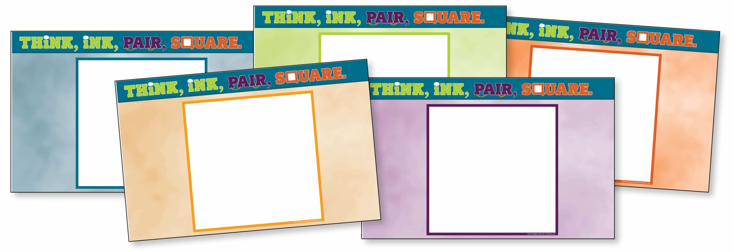 Think, Ink, Pair, Square placemats