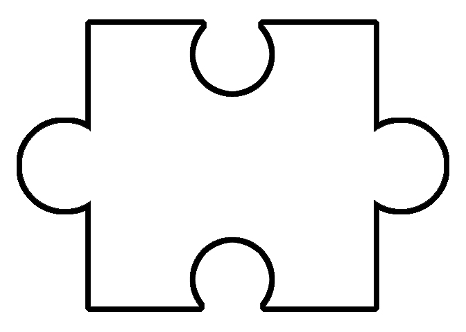 White Puzzle Piece - for Piecing Together Informative Introductions
