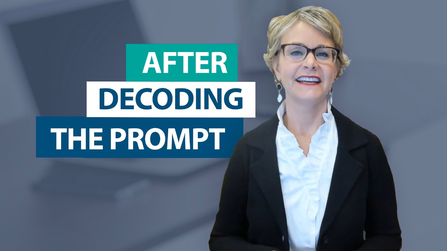 Does decoding the prompt ensure test success?