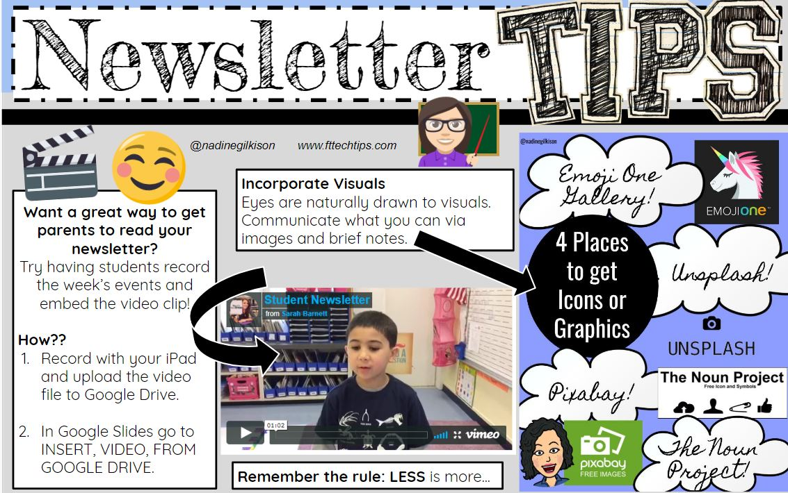 Newsletter Tips HootSuite - Communicate with Parents Example