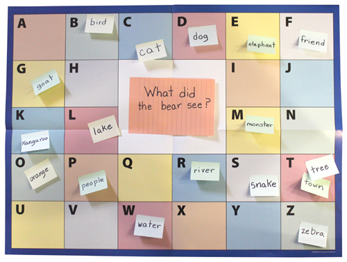 ABC Chart by Smekens Education - What did the bear see?