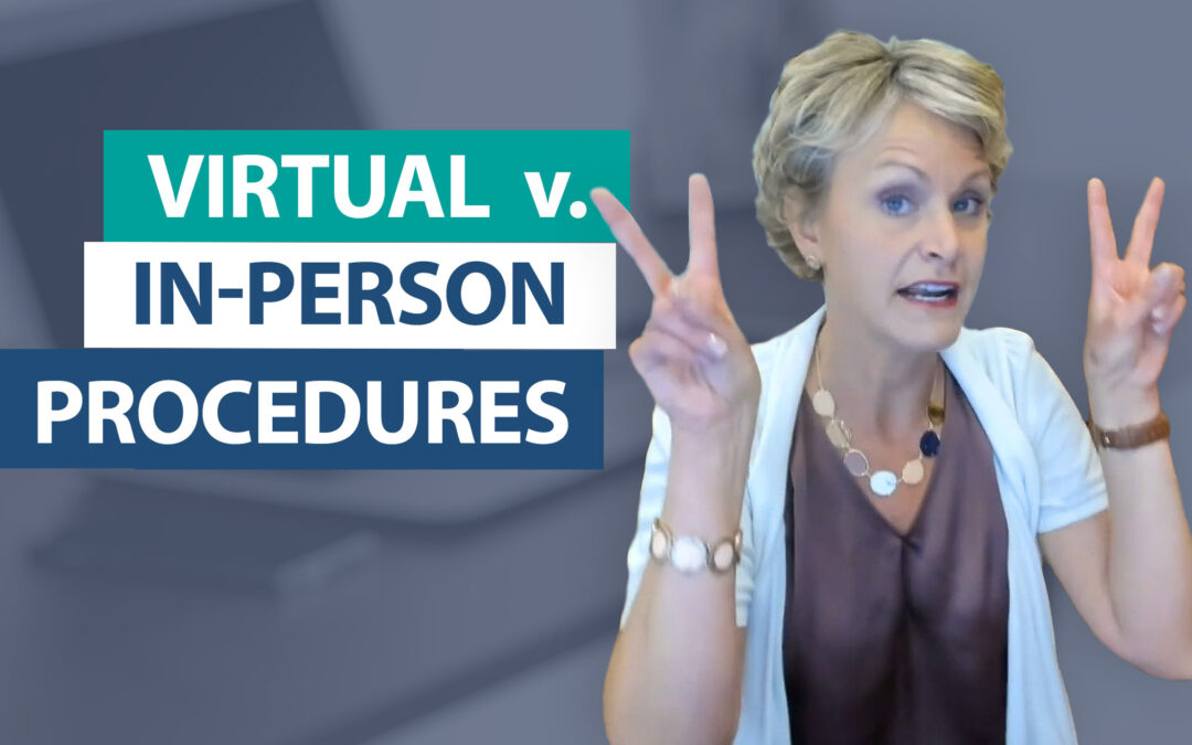 How can I establish procedures that easily convert between virtual and in-person learning?