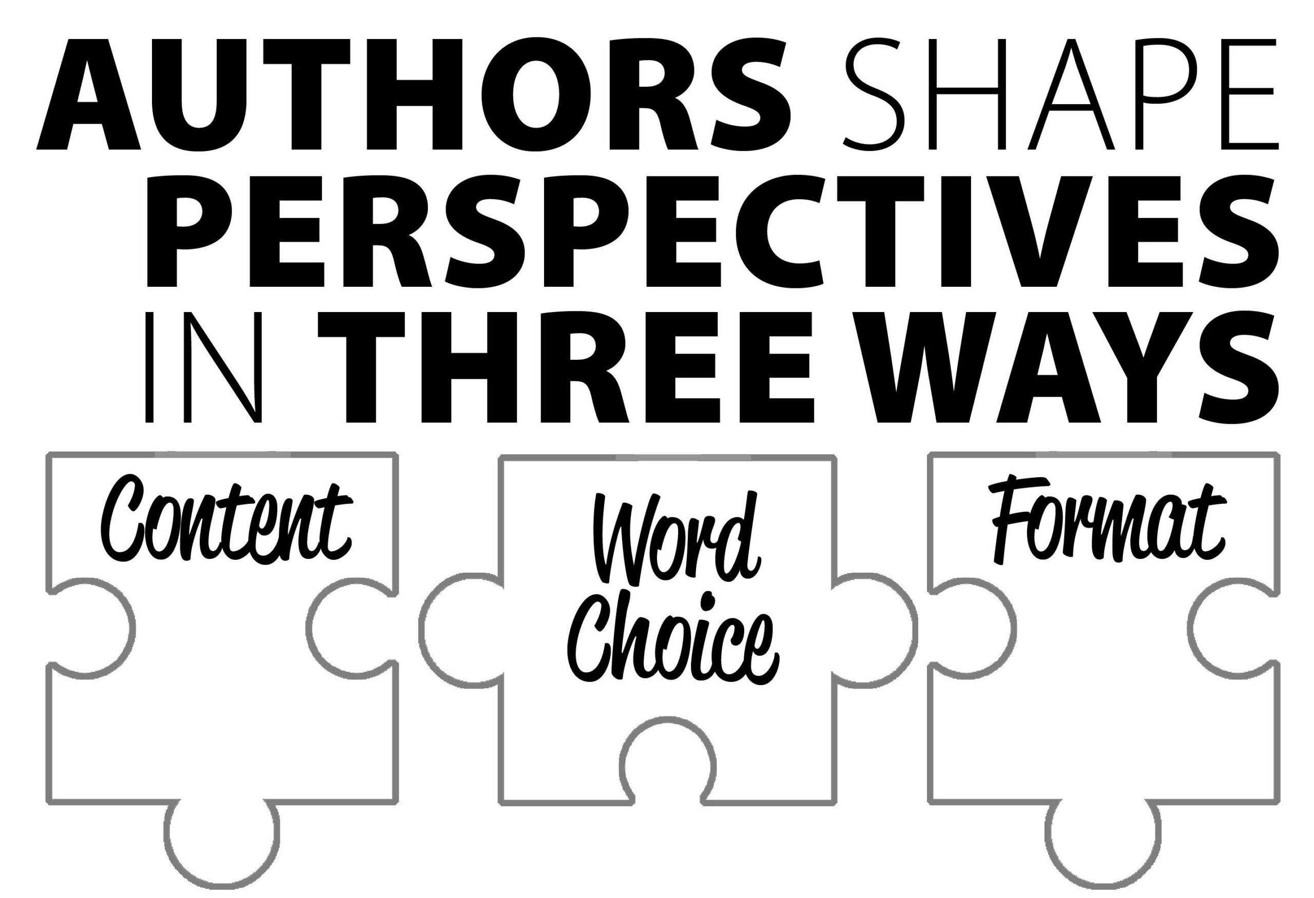 Authors shape perspective in 3 ways