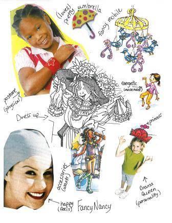 Character Collage--Fancy Nancy--Smekens Education