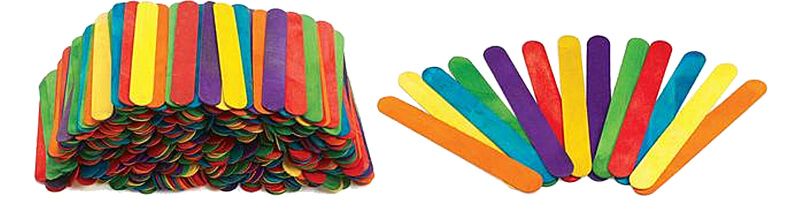 Colorful Popsicle Sticks