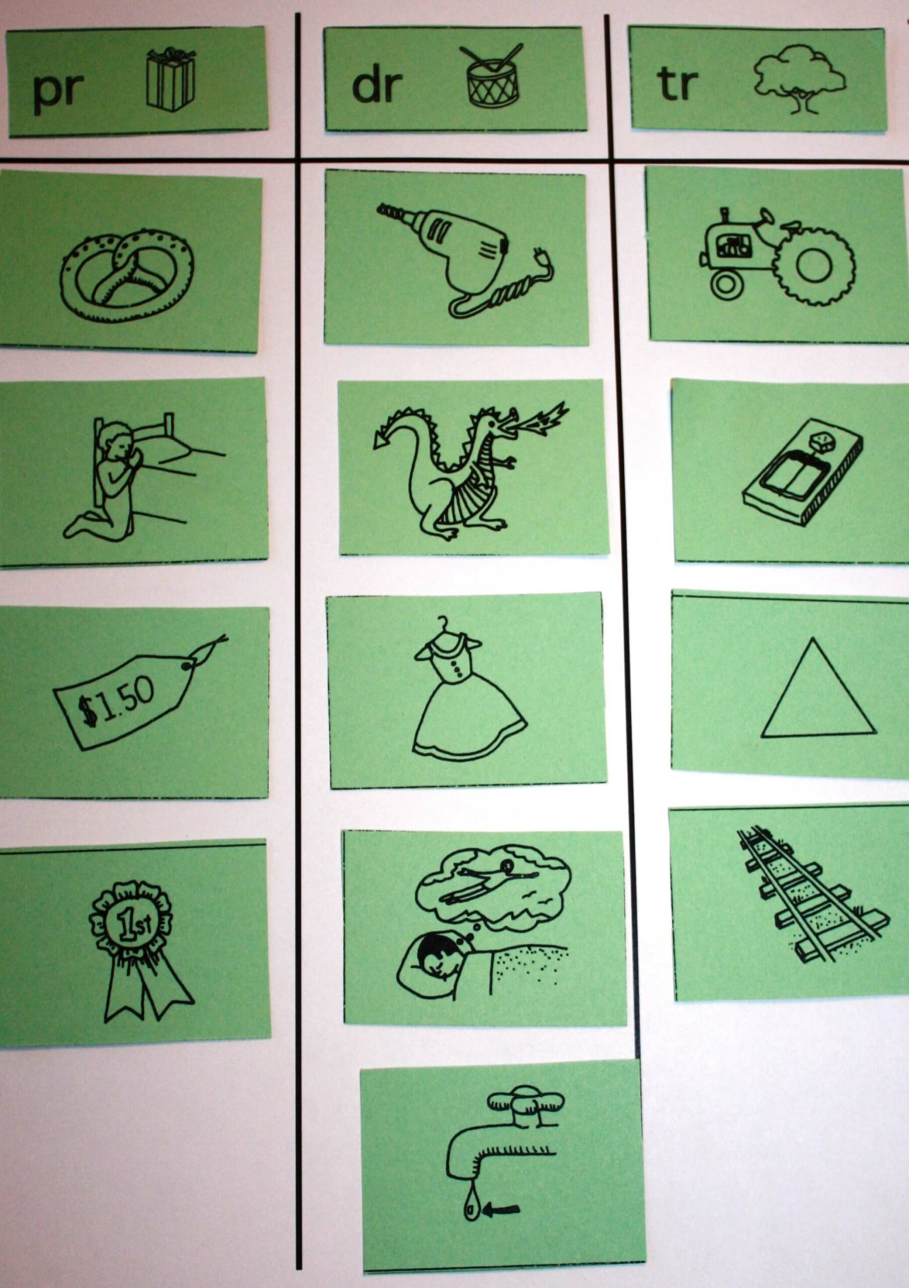 Word Study: Picture Sort Example