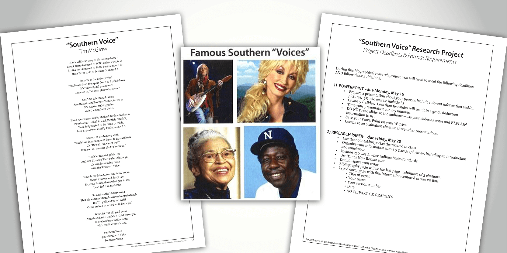 Kick Off Biography Research Unit with Song Lyrics