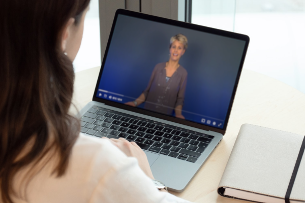 Teacher watching webPD online professional development