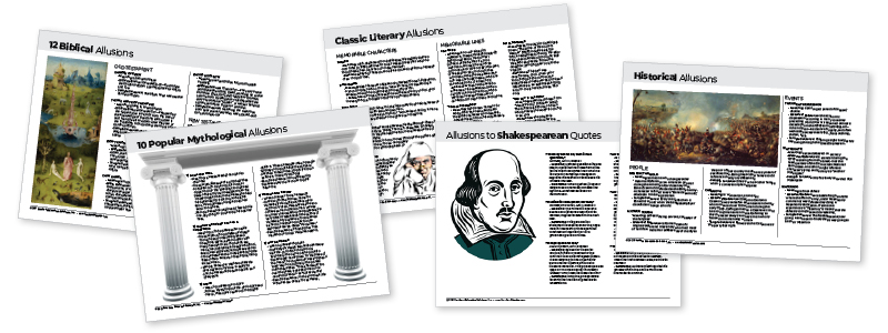 Literary Allusions - Downloadable Resource