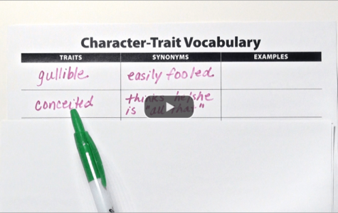 Clarify Character Traits verse Feelings